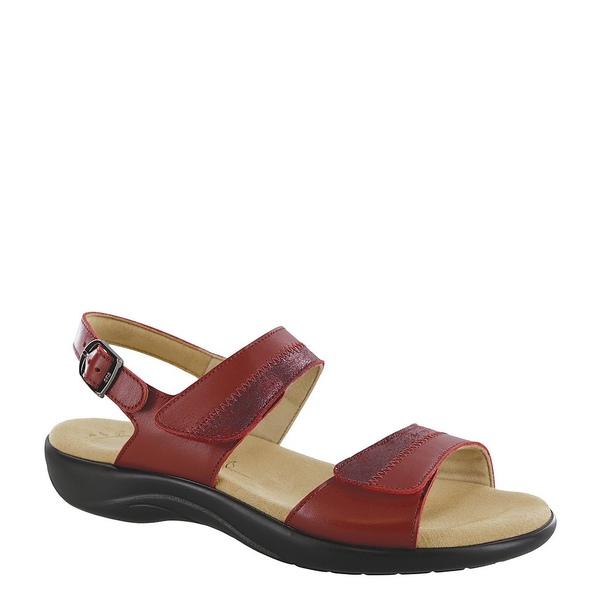 エスエーエス レディース サンダル シューズ Nudu Leather Sandals Ruby/Cabernet