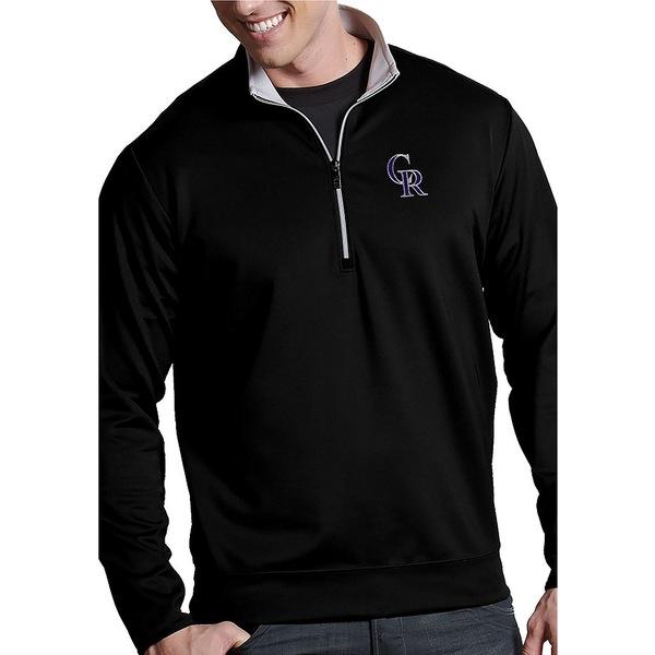 アンティグア メンズ ニット&セーター アウター MLB Leader Quarter-Zip Pullover Colorado Rockies Black/Silver