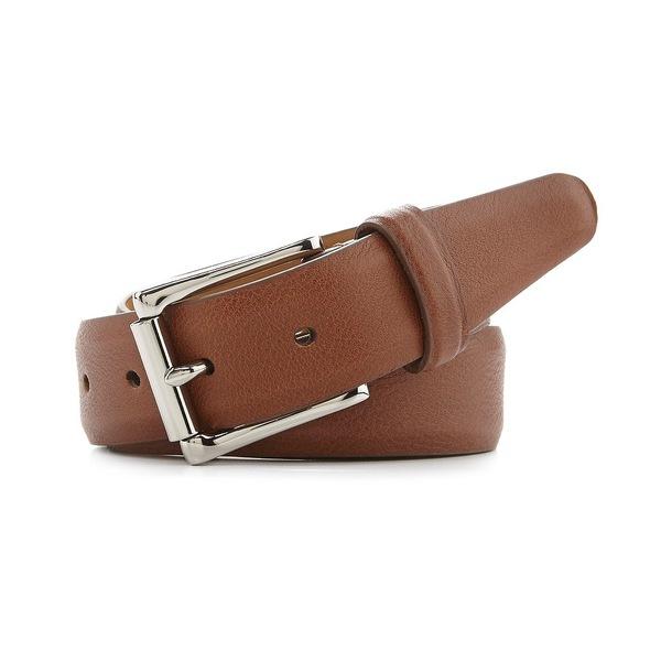 コールハーン メンズ ベルト アクセサリー Milled Edge Leather Belt British Tan