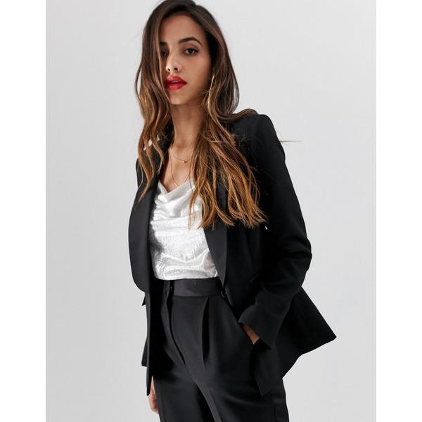 エイソス レディース ジャケット&ブルゾン アウター ASOS DESIGN tux suit blazer Black