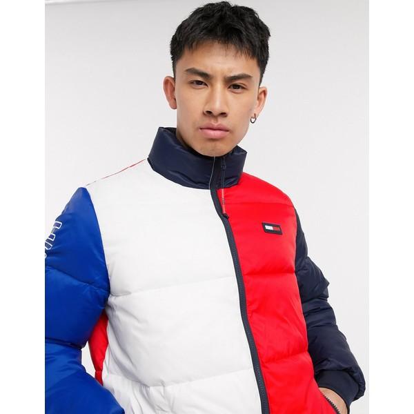 トミー ヒルフィガー メンズ ジャケット&ブルゾン アウター Tommy Hilfiger axel colorblock jacket in white/navy/red Pt / apple red