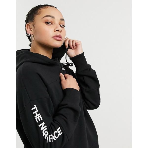 ノースフェイス レディース パーカー・スウェットシャツ アウター The North Face Graphic Collection hoodie in black Tnf black