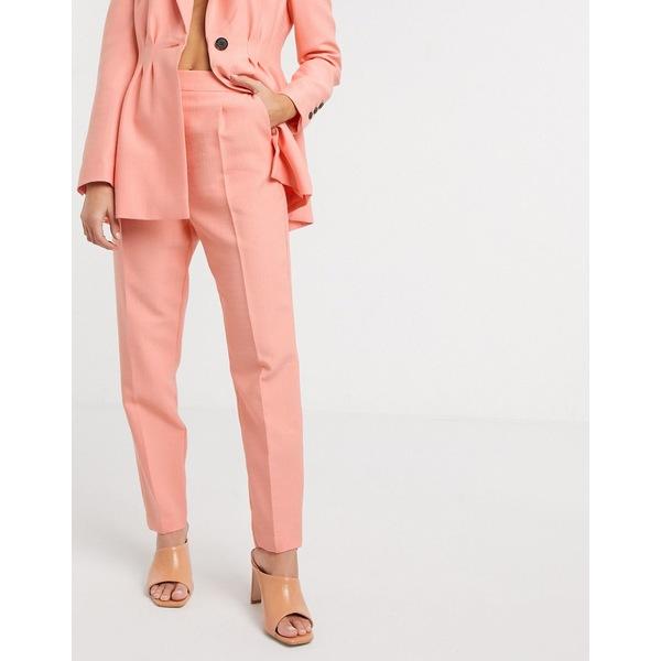 エイソス レディース カジュアルパンツ ボトムス ASOS DESIGN tapered suit pants in peach Peach