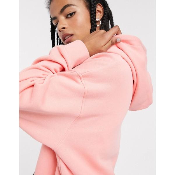 ウィークデイ レディース パーカー・スウェットシャツ アウター Weekday Marcie organic cotton longline oversized hoodie in peach pink Peach pink