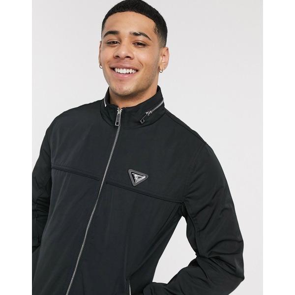 リバーアイランド メンズ ジャケット&ブルゾン アウター River Island racer jacket in black Black