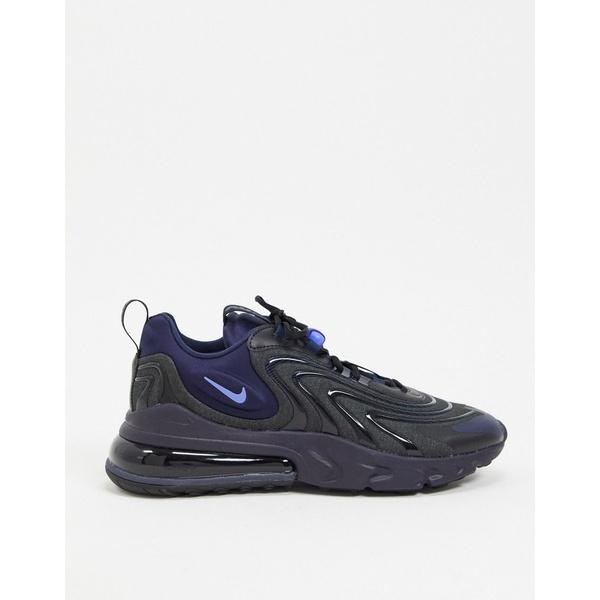 ナイキ メンズ スニーカー シューズ Nike Air Max 270 React Engage sneakers in black/navy Black/navy