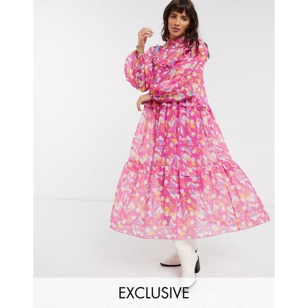 リクレイム ヴィンテージ レディース ワンピース トップス Reclaimed Vintage inspired midi sheer dress in vintage floral print Multi