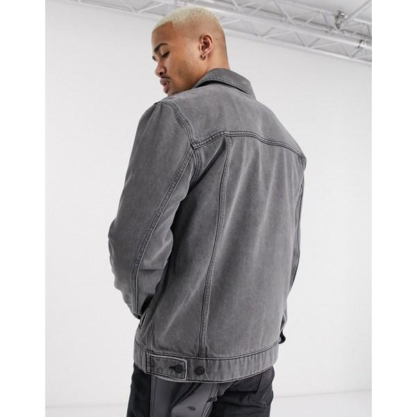 エイソス メンズ ジャケット&ブルゾン アウター ASOS DESIGN regular denim jacket in gray Gray