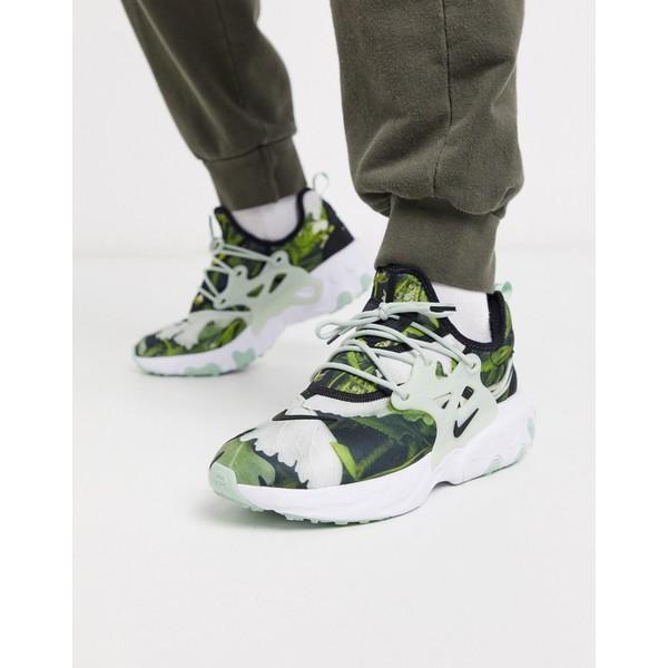 ナイキ メンズ スニーカー シューズ Nike React Presto Premium sneakers in tropical leaf print Tropical leaf print