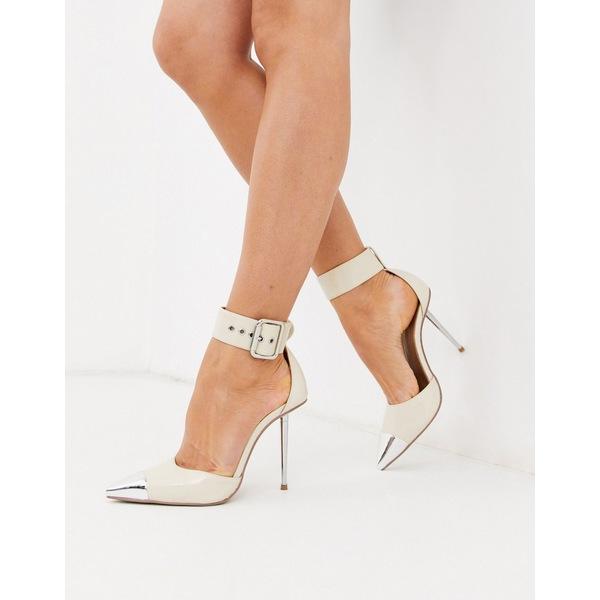 エイソス レディース ヒール シューズ ASOS DESIGN Pierce stiletto heels with toe cap in bone patent Bone patent