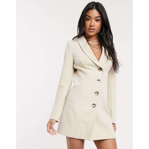 フォースレックレス レディース ワンピース トップス 4th + Reckless asymmetrical blazer dress in natural Natural