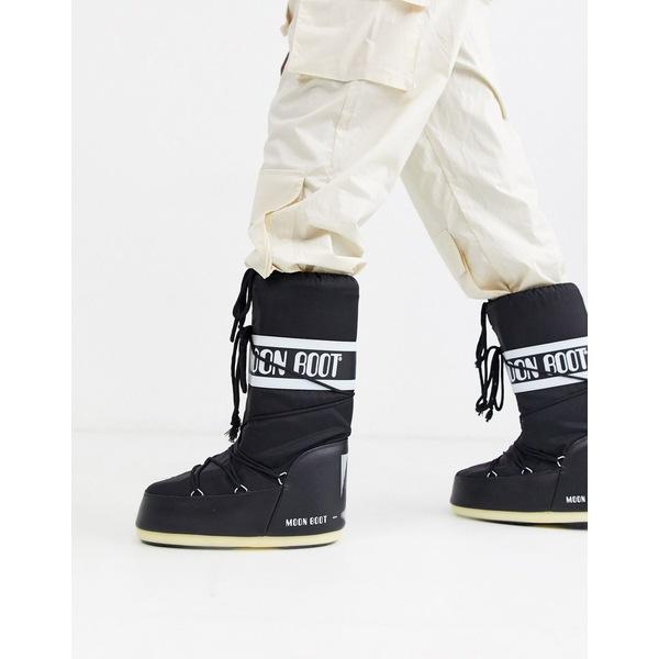 ムーンブーツ メンズ ブーツ&レインブーツ シューズ Moon Boot classic snow boots in black Black