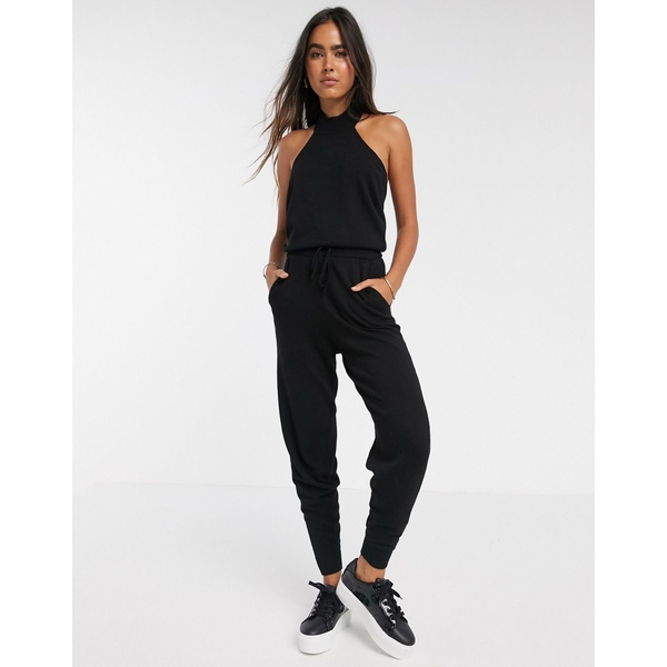 エイソス レディース カジュアルパンツ ボトムス ASOS DESIGN two-piece knitted sweatpants Black