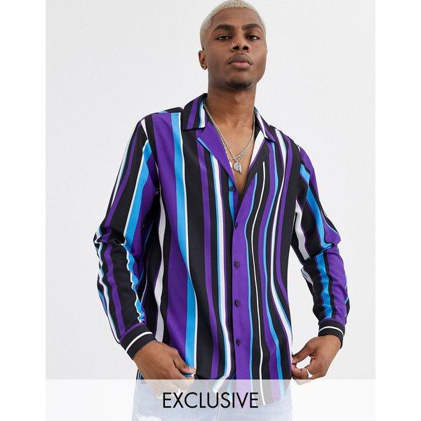 リクレイム ヴィンテージ メンズ シャツ トップス Reclaimed Vintage multi stripe shirt Multi