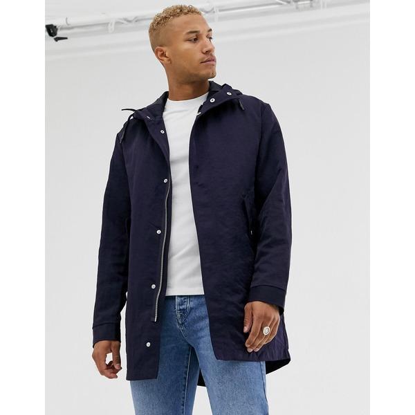 エイソス メンズ コート アウター ASOS DESIGN parka jacket with detachable vest liner in navy Navy