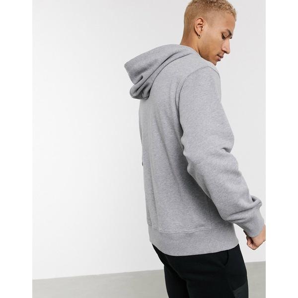 ナパピリ メンズ アウター パーカー スウェットシャツ Med gray 選択 全商品無料サイズ交換 hoodie mel in Base Napapijri 新発売