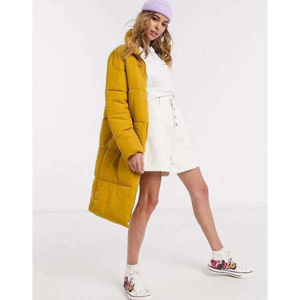 ジェイディーワイ レディース コート アウター JDY Erica long line padded jacket Harvest gold