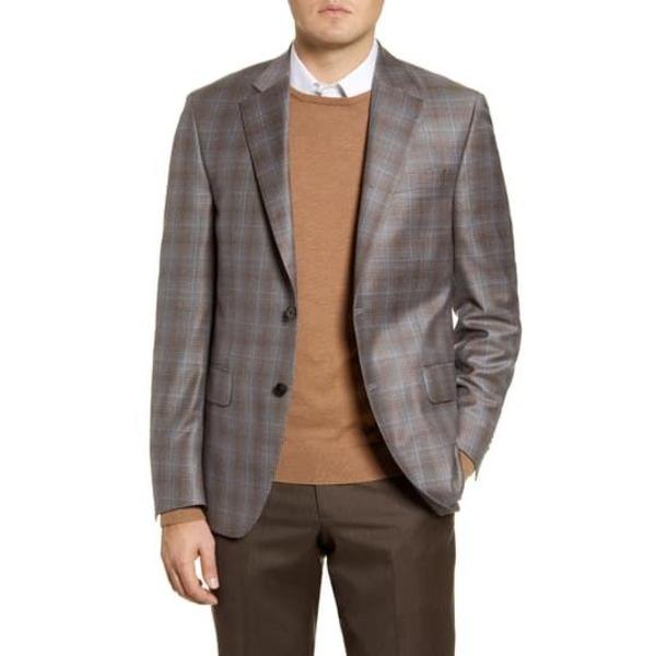 ピーター・ミラー メンズ ジャケット&ブルゾン アウター Flynn Classic Fit Plaid Wool Sport Coat TAN