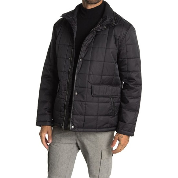 <title>コールハーン メンズ アウター ジャケット ブルゾン BLACK 全商品無料サイズ交換 最新号掲載アイテム Quilted Jacket</title>