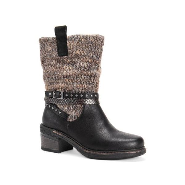 ムクルクス レディース ブーツ&レインブーツ シューズ Kim Block Heel Boot BLACK