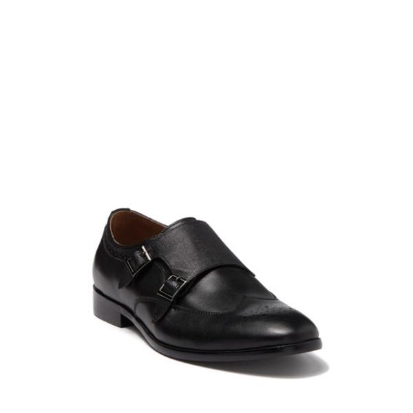 アイクベーハー メンズ ドレスシューズ シューズ Hart Double Monk Strap Shoe BLACK