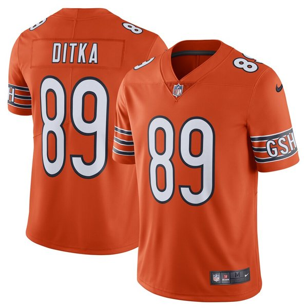 ナイキ メンズ シャツ トップス Mike Ditka Chicago Bears Nike Alternate Vapor Untouchable Limited Retired Player Jersey Orange