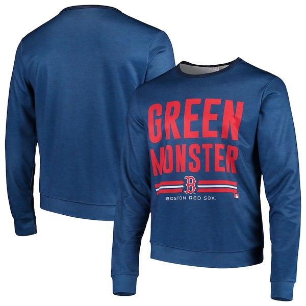 フォコ メンズ パーカー・スウェットシャツ アウター Boston Red Sox Localized Crew Neck Sweater Navy