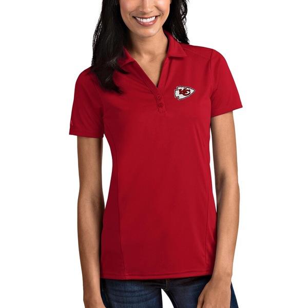 アンティグア レディース ポロシャツ トップス Kansas City Chiefs Antigua Women's Tribute Polo Red