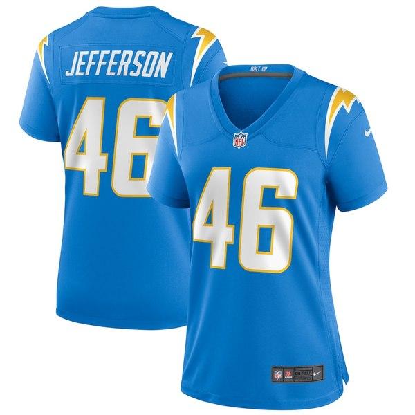 ナイキ レディース シャツ トップス Malik Jefferson Los Angeles Chargers Nike Women's Player Game Jersey Powder Blue