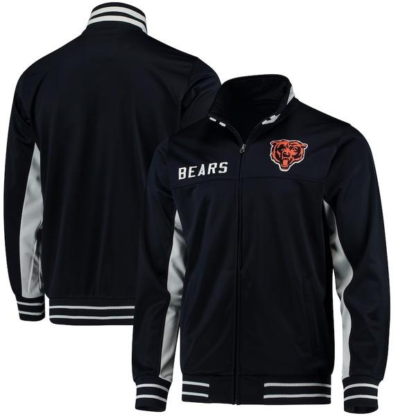 カールバンクス メンズ ジャケット&ブルゾン アウター Chicago Bears G-III Sports by Carl Banks Big Shot Track Jacket Navy
