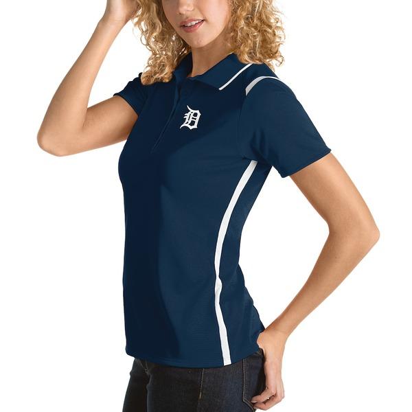 アンティグア レディース ポロシャツ トップス Detroit Tigers Antigua Women's Merit Polo Navy