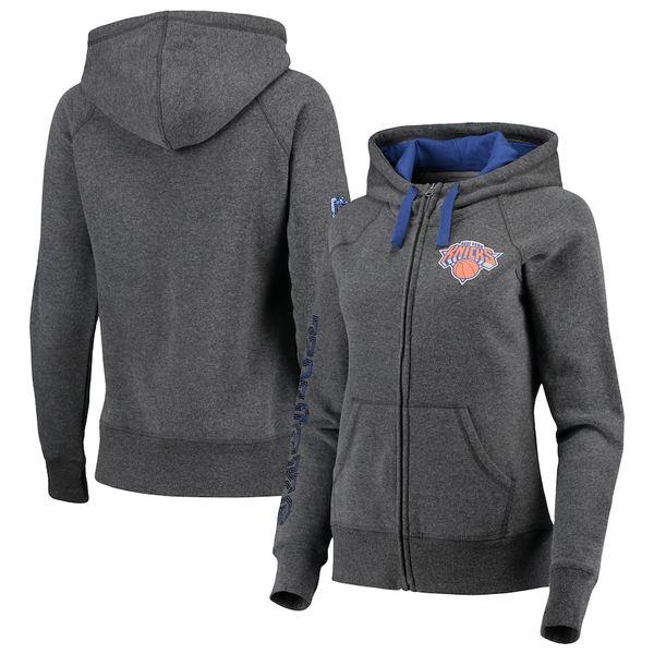 カールバンクス レディース ジャケット&ブルゾン アウター New York Knicks G-III 4Her by Carl Banks Women's Playoff Suede Fleece Full-Zip Jacket Charcoal/Blue