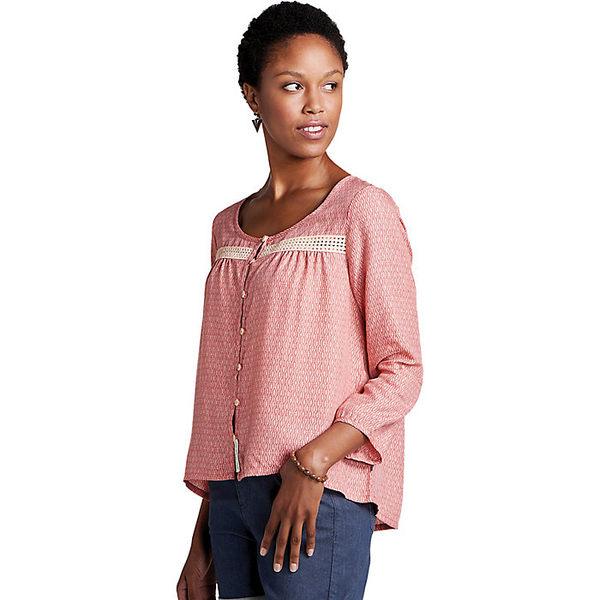 トードアンドコー レディース シャツ トップス Toad & Co Women's Windsong LS Shirt Guava Diamond Print