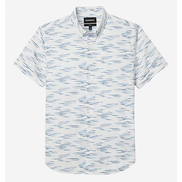 ボノボス メンズ シャツ トップス Bonobos Men's Riviera SS Shirt Faux Ikat Worn Cobalt