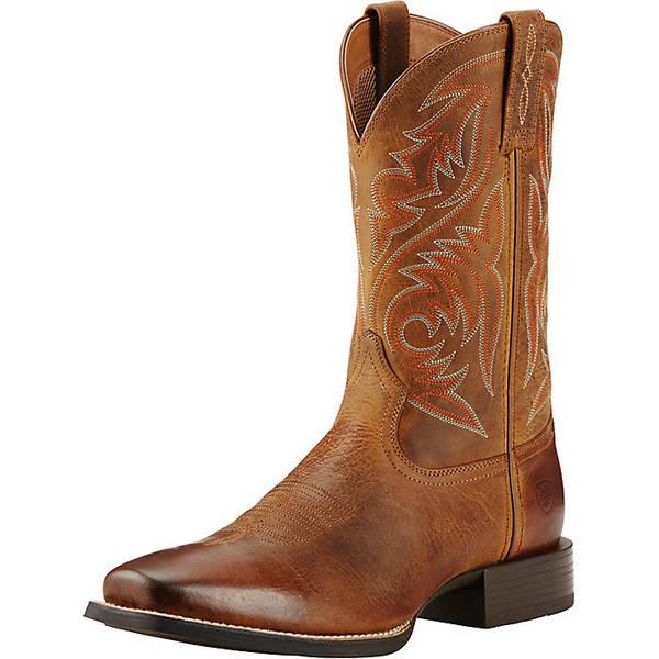 アリアト メンズ ブーツ&レインブーツ シューズ Ariat Men's Sport Herdsman Boot Powder Brown