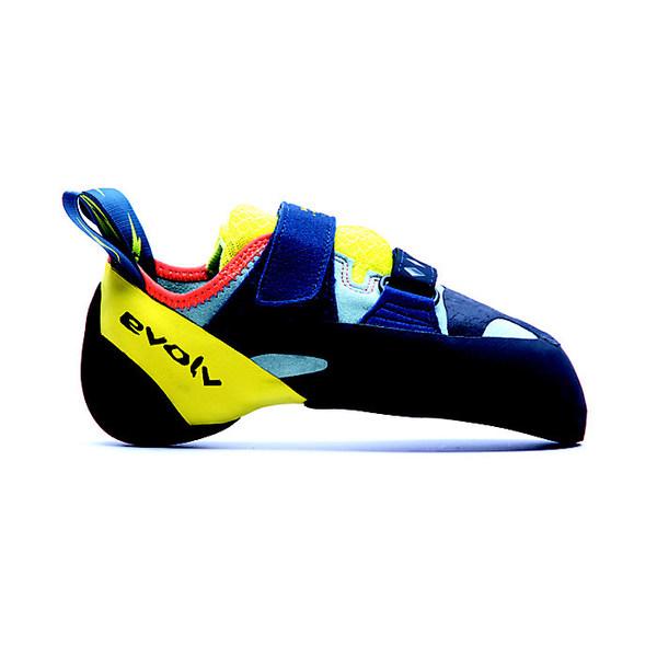 エボルブ レディース サイクリング スポーツ Evolv Women's Shakra Climbing Shoe Aqua / Neon Yellow