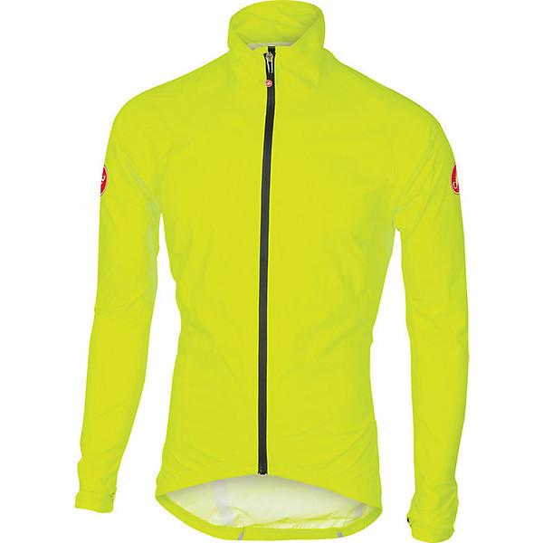 カステリ メンズ ジャケット&ブルゾン アウター Castelli Men's Emergency Rain Jacket Yellow Fluo