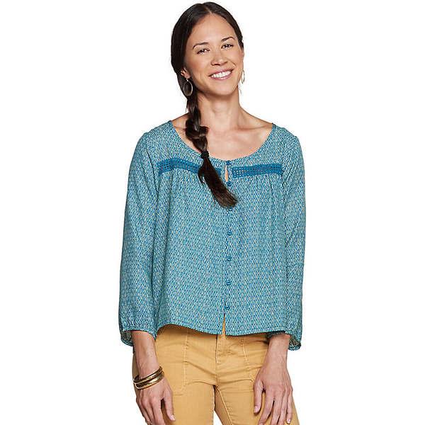トードアンドコー レディース シャツ トップス Toad & Co Women's Windsong LS Shirt Deepwater Diamond Print