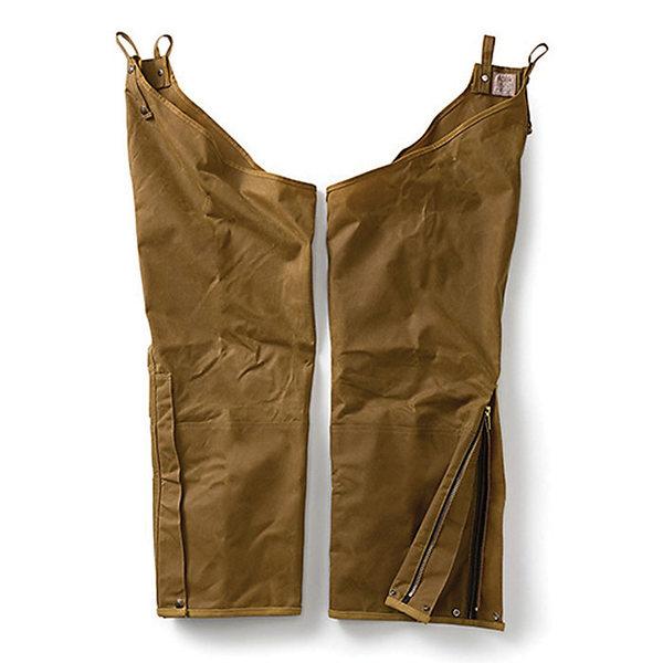 フィルソン メンズ ブーツ&レインブーツ シューズ Filson Men's Double Tin Chaps with Leg Zippers Dark Tan