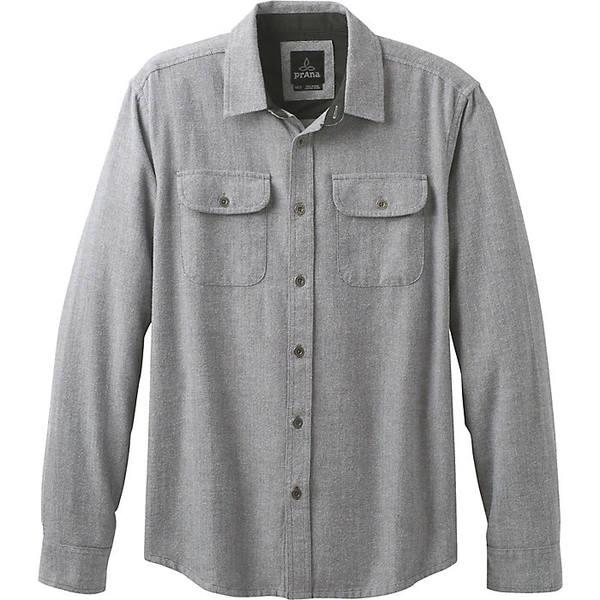 プラーナ メンズ シャツ トップス Prana Men's Lybeck LS Shirt Gravel