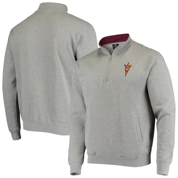 コロシアム メンズ ジャケット&ブルゾン アウター Arizona State Sun Devils Colosseum Tortugas Logo Quarter Zip Jacket White