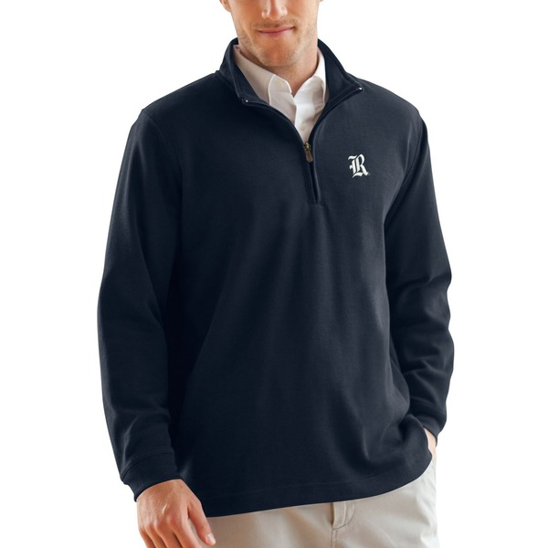 ビンテージアパレル メンズ ジャケット&ブルゾン アウター Rice Owls FlatBack Rib 1/4Zip Pullover Sweater Navy