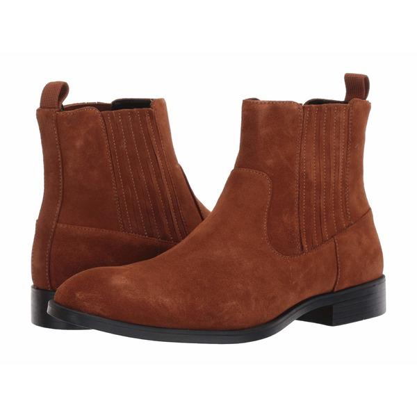 カルバンクライン メンズ ブーツ&レインブーツ シューズ Cliff Mid Chelsea Boot Tan Calf Suede