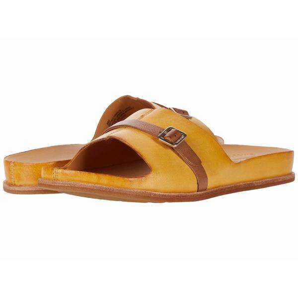 コークイース レディース サンダル シューズ Downey Yellow Full Grain Leather