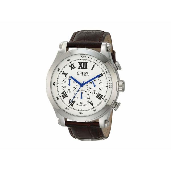 ゲス メンズ 腕時計 アクセサリー W1105G3 Silver/Brown