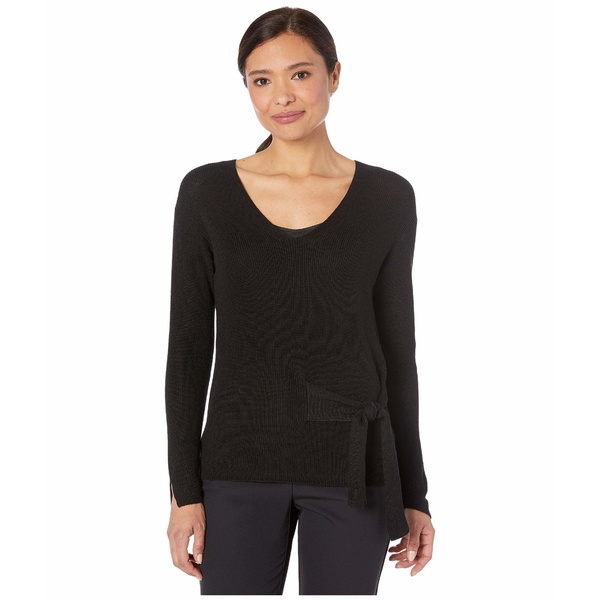 ニックプラスゾーイ レディース ニット&セーター アウター Flaunt Tie Sweater Black Onyx