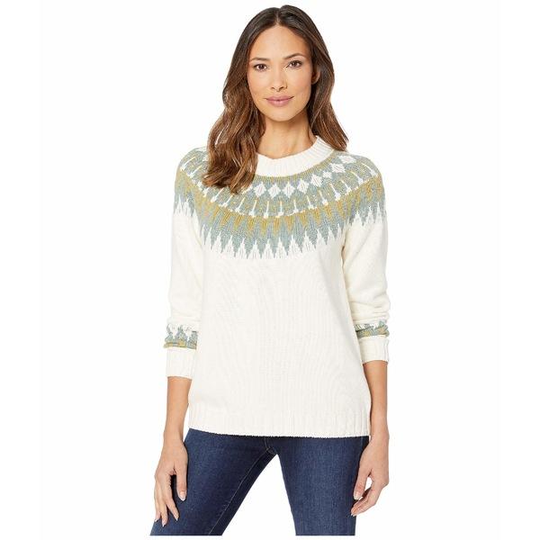 エリオットローレン レディース ニット&セーター アウター Fair Isle Crew Neck Fully Fashioned Raglan Sweater Ivory/Green
