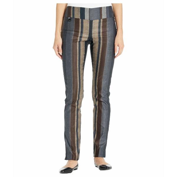 リセットエルモントリオール レディース カジュアルパンツ ボトムス Algarve Stripe Print Slim Pants Brown