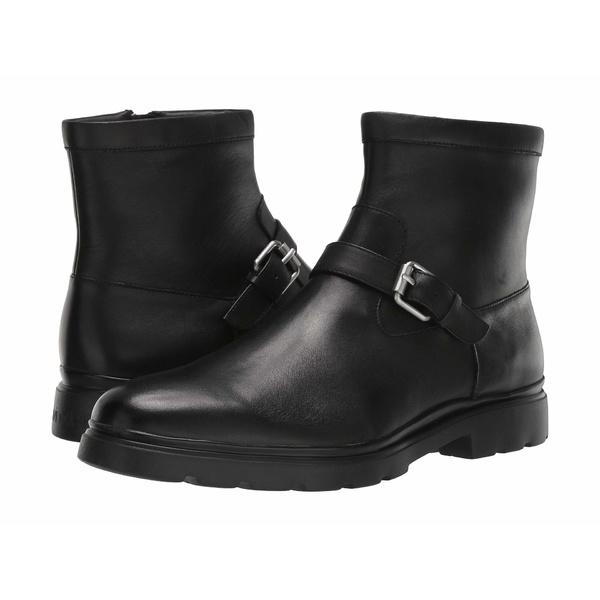 カルバンクライン メンズ ブーツ&レインブーツ シューズ Rumer Black Maya Leather
