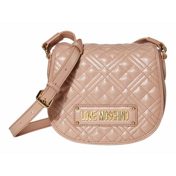 ラブ モスキーノ レディース ハンドバッグ バッグ Quilted Small Saddle Bag Pink